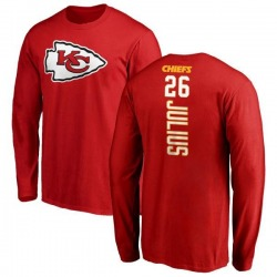 Men's Jalen Julius Kansas City Chiefs Backer Long Sleeve T-Shirt - Red