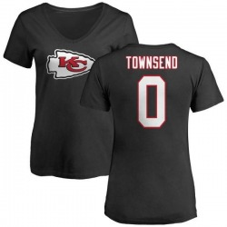 Women's Tommy Townsend Kansas City Chiefs Name & Number Logo Slim Fit T-Shirt - Black