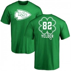 Youth Deon Yelder Kansas City Chiefs Green St. Patrick's Day Name & Number T-Shirt